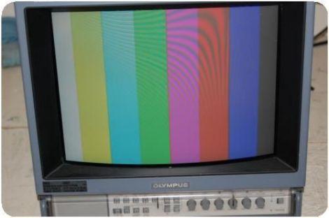 Olympus Trinitron OEV143 color video monitor
