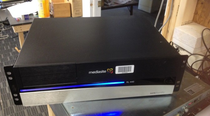 Sonic Foundry Media Mediasite Rl440 Rich Media Recorders RL 440 MSL-CSR-440-R1
