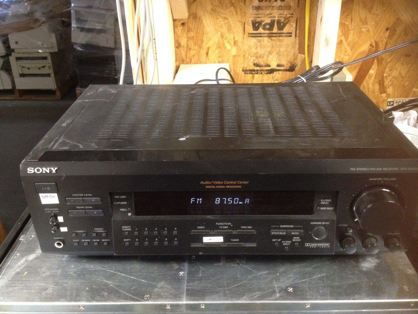 sony receiver. sony str de425 5.1 channel 500 watt fm stereo receiver w