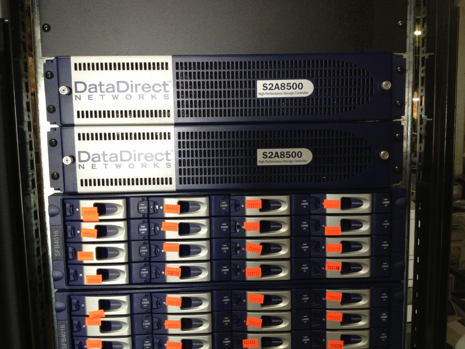 Datadirect Networks With 4 S2a8500 Controller Amp 10 Storage