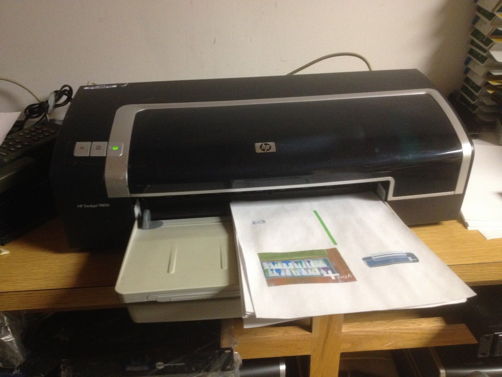 Hp hp color laser printers 11x17 - Hp Deskjet 9800 Printer Pc Only 1929 Pages Large Format Wide 13x19 11x17