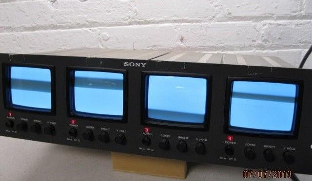 Sony PVM-411 B/W Quad 4″ Rack Mount Monitors