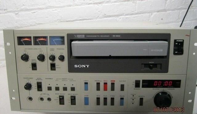 Sony VO-5850 VCR Video Cassette Recorder