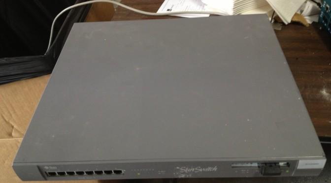 Sun Switch RPS700101 Model 110 8 Ports 1000 Base-SX